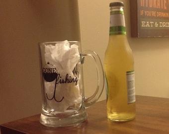 Beer Mug-Fathers Day-Fishing-Christmas