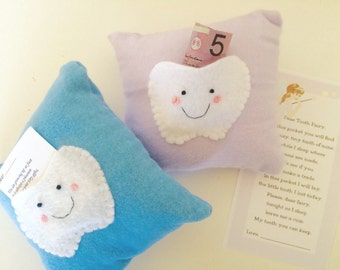 Two tooth fairy pillows
