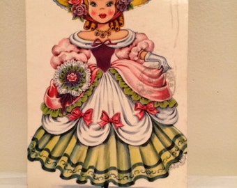 Postcard; Doll of England with corespondence