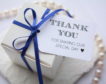 Thank you favour tags, DIY wedding thank you tags, Thank You favour tags, classic wedding favour tags - Set of 20