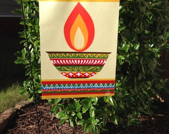 SALE - Ethnic Pattern Garden Flag or Indoor Decoration
