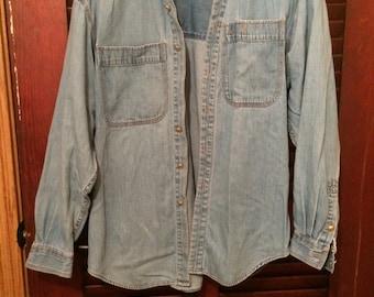 Vintage Liz Clainborne (Lizwear) Chambray Shirt