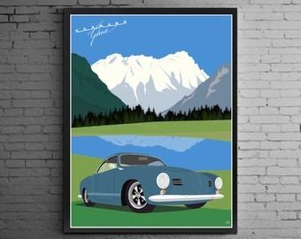 German Engineering, Italian Design ( Karmann Ghia poster )