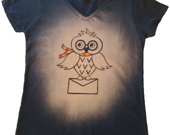 Hedwig Harry Potter Owl Bleached T-shirt