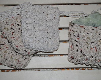 100% Cotton Hand Crocheted Soap Saver