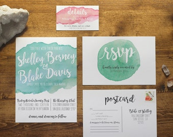 Printable Watercolor Wedding Invitation Suite | The Shelley Collection