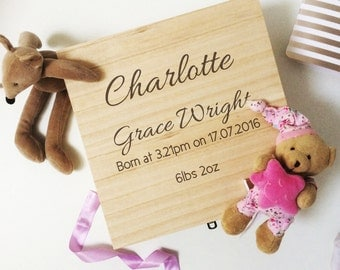Baby Keepsake Box, Baby memory box, Box for Baby items, personalised keepsake box, christening gift, baby gift