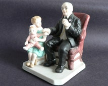 Norman Rockwell Little Patient Figurine Museum Collection Vintage Gift for Doctor