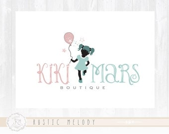 Party Logo Design Little Girl Logo Boutique Logo Design Photography Logo Watermark