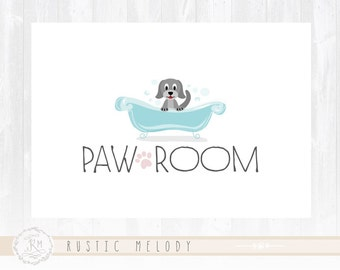 Dog Logo Design Pet Boutique Logo Dog Bath Logo Photography Logo Watermark