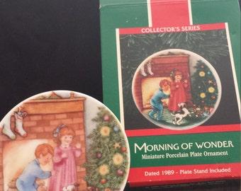"Vintage Hallmark ""Morning of Wonder"" Ornament/Plate"