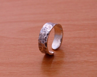 Rustic Sterling Silver adjustable ring 6MM collection