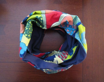Japanese Landscape Reversible Infinity Scarf