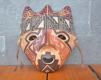 Bird mask by Chancay culture, Peru #7