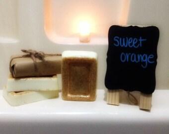 Sweet Orange Soap, Homemade Soap, Handmade Soap, Scented Soap, Citrus Soap, Bar Soap