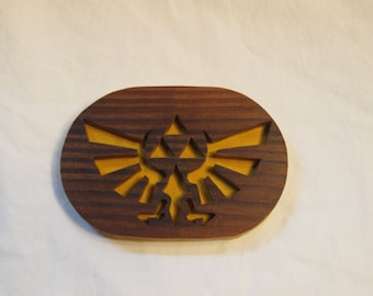 Wooden Triforce Magnet