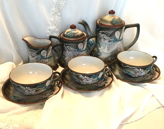 Vintage Tea Set Moriage Dragonware Made In By Mydaughtersattic