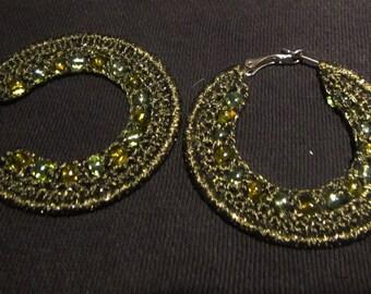 Earrings, Crochet Hoop Earrings, Crochet earring jewelry, crochet earring , Crochet earring