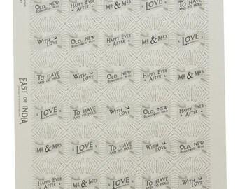 Wedding Circle Sticker Sheet