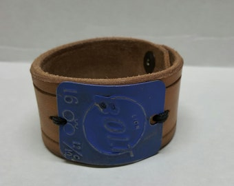 """7.5"""" leather findings cuff"""