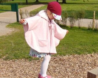 SUSANNE cape / rain cape, sizes 110-152 (5-12yr) / INSTANT DOWNLOAD