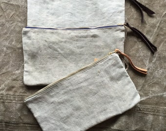 Italian Linen Clutch