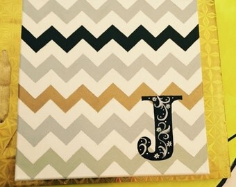 Chevron Canvas Personalized Wall Art