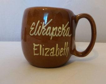 """Vintage Hawaii KavaCraft Elizabeth mug """"Elikapeka"""""""