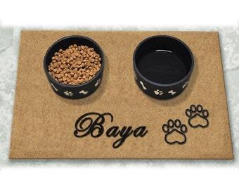 D60718 - 24 x 36 DuraCoir Pet Placemat - Paw Prints Personalized