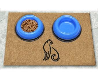 D60710 - 12 x 18 Duracoir Pet Mat - Single Cat Non-Personalized