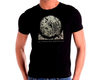 """Original T-shirt designed and printed by """"Infected Graphics"""". Dark side of the Moon. Party. Street. Cool gift for everyone."""