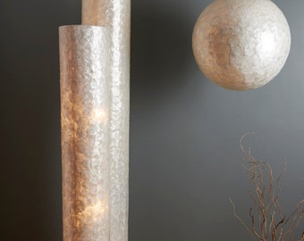 Coastal Chic Oyster Shell Floor Lamp 120cm