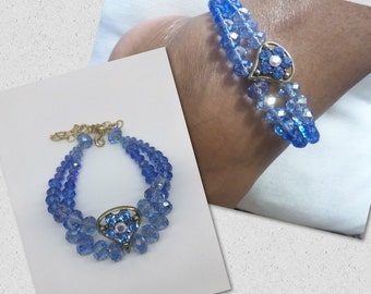 Crystal anklet, Blue anklet, bridal accessories , crystal anklet, wedding anklet , swarovsk anklet, anklet, something blue for wedding