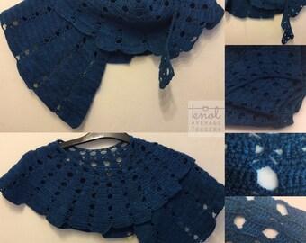 Vanessa - blue crochet spiral shawl UK shop