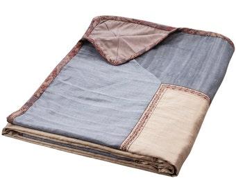 "Aztaro Paisley Handwoven & Hand Embroidered Bedspread 100"" x 110"""