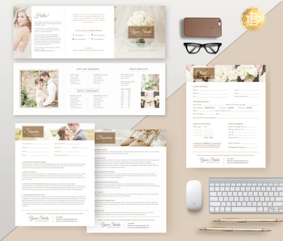 Bundles of Photography Business Form and Contracts - Session Contract, Pricing Guide, Model Release, etc . MS Word & Photoshop Form - PSF001