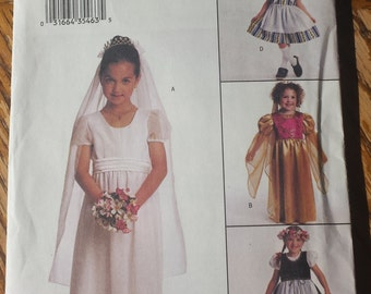 Butterick Girls Dress Costume Pattern