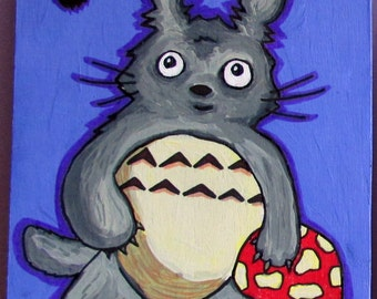 Totoro and Soot Sprite Fan Art