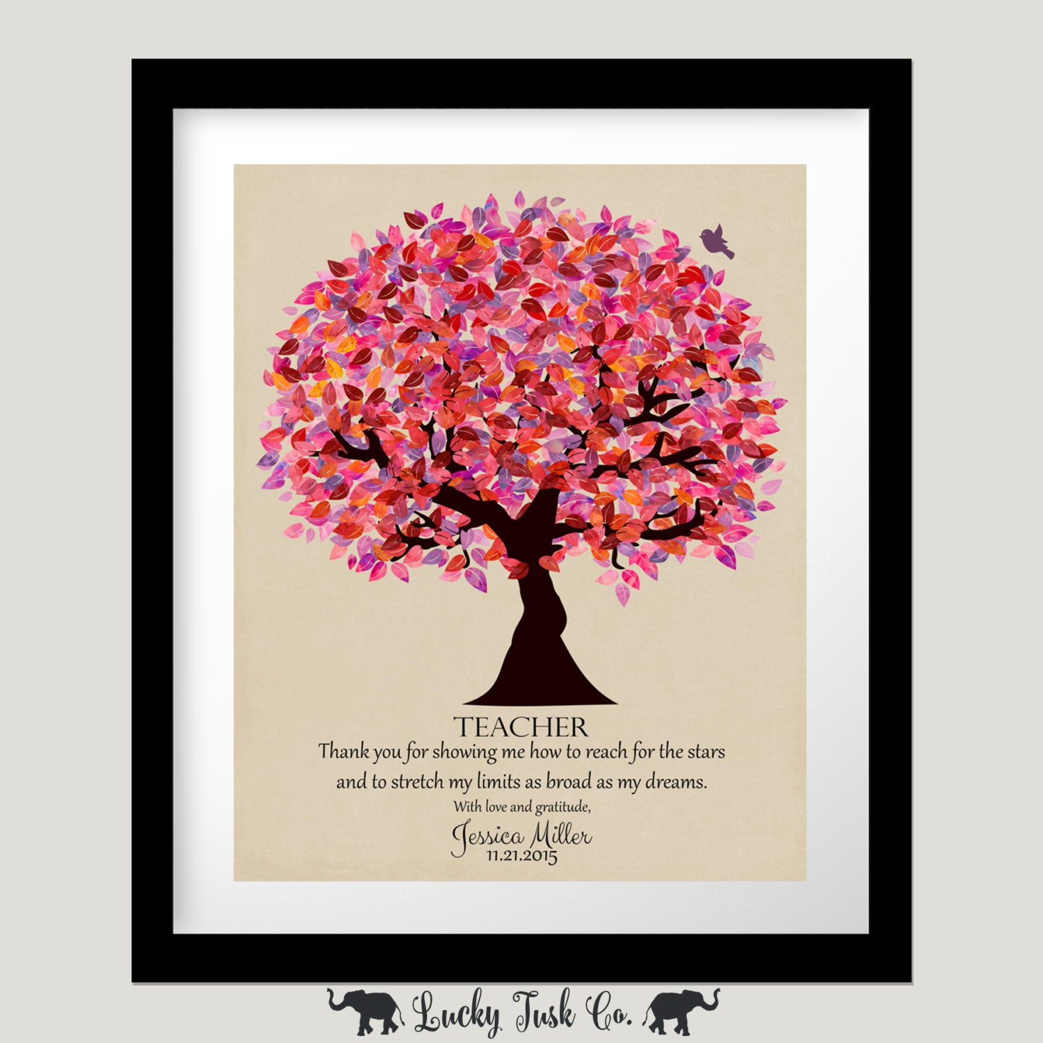 Personalized Gift For Teacher Mentor End Of School Year