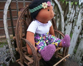 """WALDORF  COTTON  DOLL  Shoes............... (Sole approx 3.5"""")"""