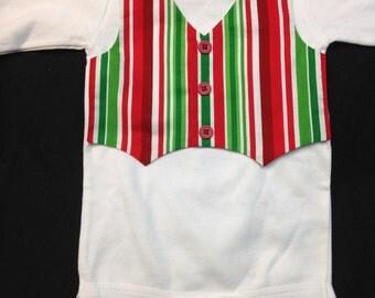 Christmas Vest Onesie - 6-12 Mo. (in stock)