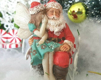 Miniature Fairy Adeline and Santa