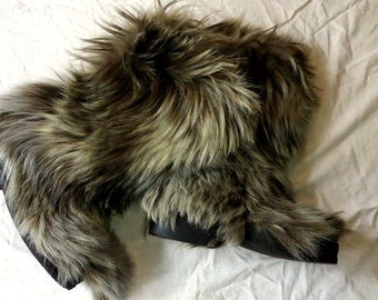 Unique Goat Fur Boots Related Items Etsy