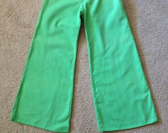 Vintage early 1970's Montgomery Ward's girls' bell bottom pants