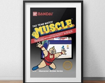 Muscle Original NES Box print