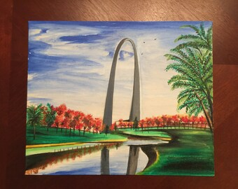St. Louis Arch Painting