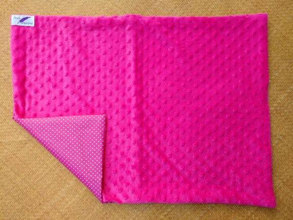 Portable waterproof baby change mat / diaper changing pad / nappy changing mat - hot pink
