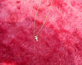 Little Girl's Vintage Cross Necklace