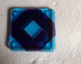 Quilt Block Glass Coasters