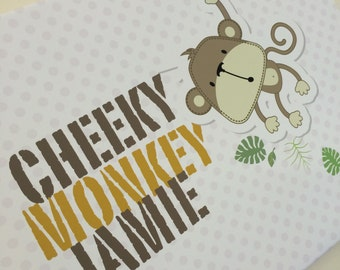 Cheeky Monkey Personalised Canvas